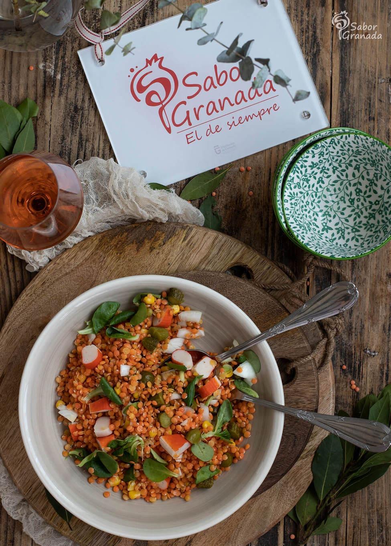Ensalada de lentejas - Sabor Granada