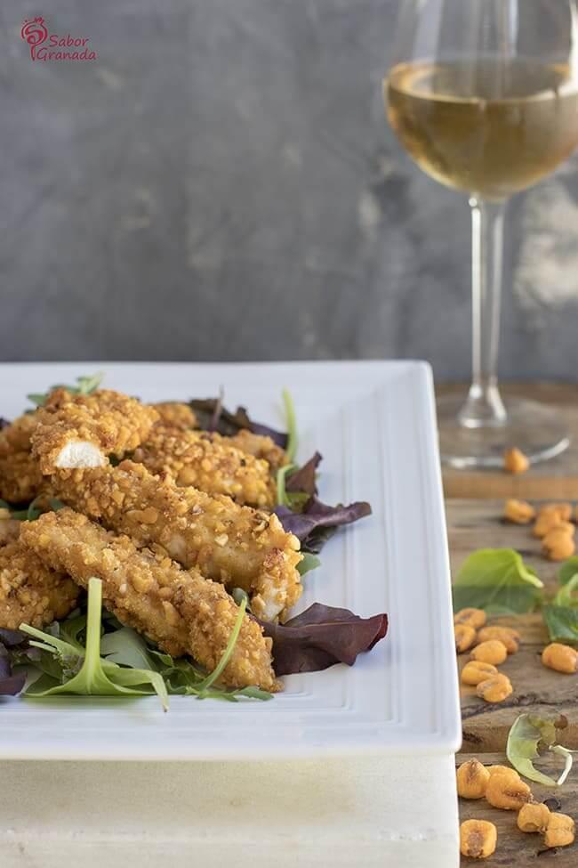 Fingers de pollo con maíz tostado - Sabor Granada