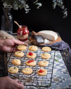 Galletas de queso de cabra y orégano - Sabor Granada