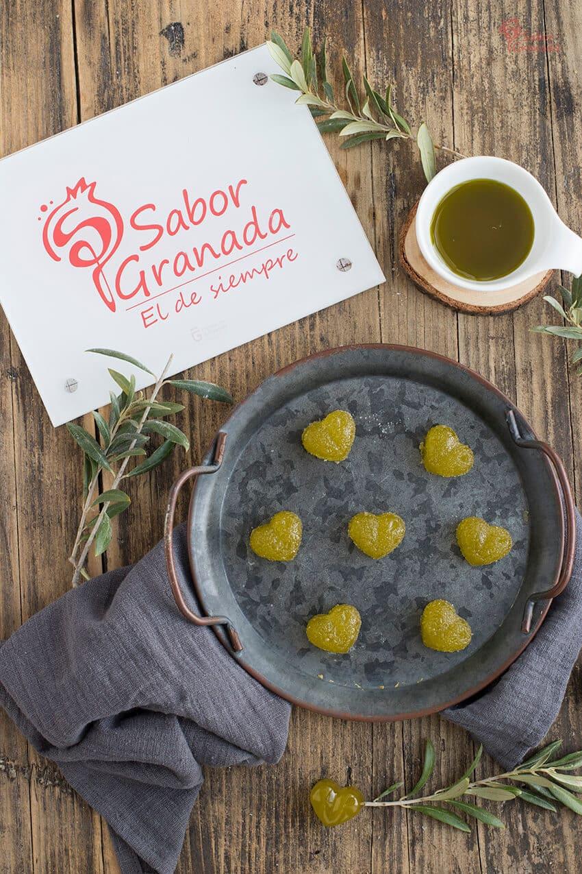 Presentación de la receta de gominolas de AOVE - Sabor Granada