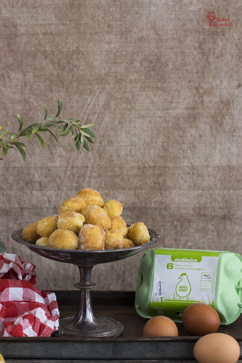 Huevos Garrido para la elaboración de buñuelos - Sabor Granada