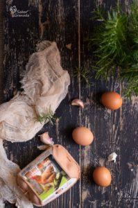 Huevos Garrido para elaborar pastel de carne - Sabor Granada