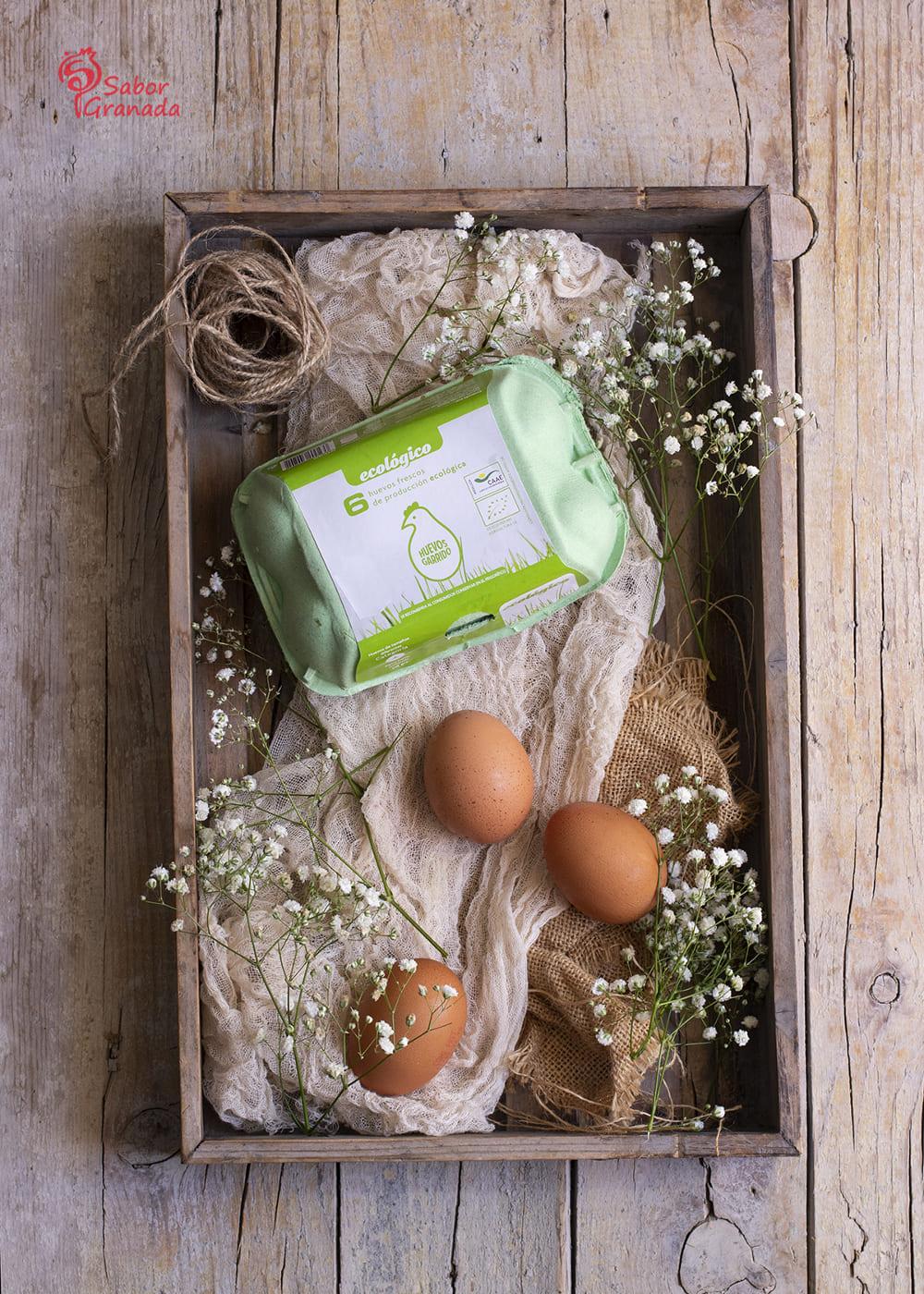 Huevos Garrido para la elaboración de flan de salmorejo - Sabor Granada