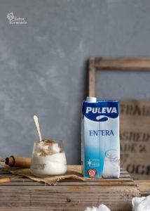 Leche Puleva para elaborar leche rizada. Receta de postre con leche - Sabor Granada