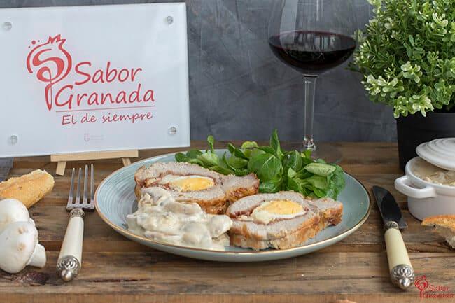 Receta para hacer Lomo relleno de jamón, queso y huevos cocidos - Sabor Granada