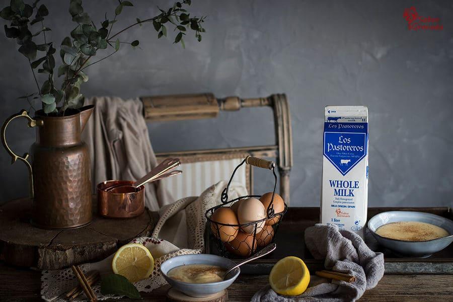 Leche los pastoreros para elaboración de natillas caseras - Sabor Granada
