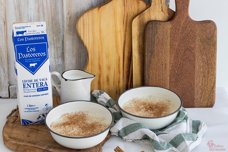 Leche Los pastoreros para hacer arroz con leche - Sabor Granada