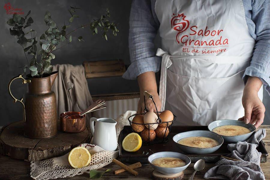 Elaboración de esta receta natillas caseras - Sabor Granada