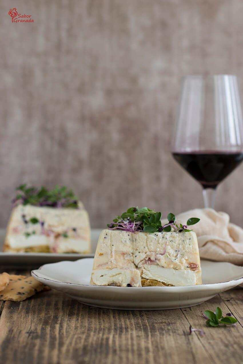 Presentación de la receta de pastel de Queso salado - Sabor Granada