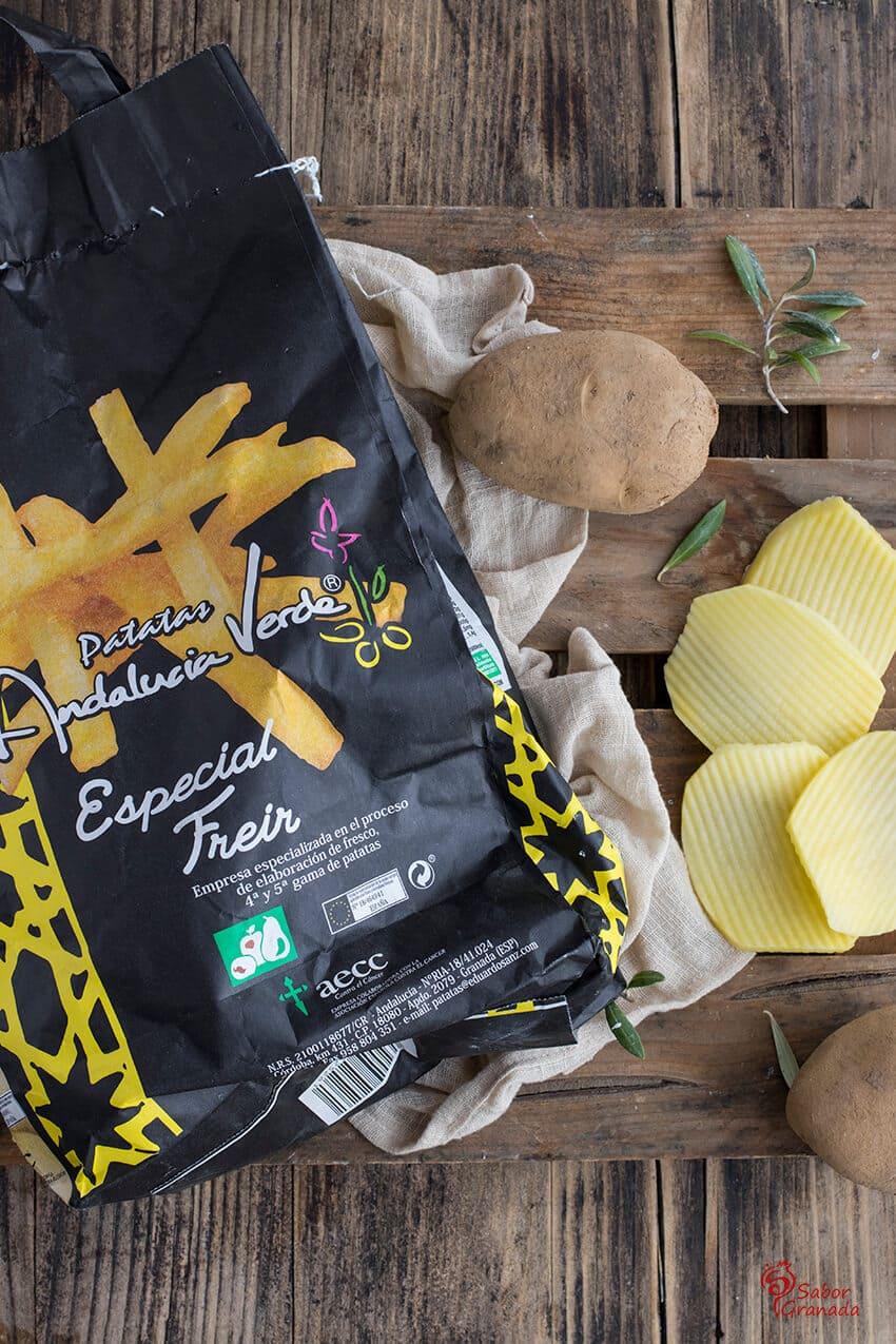 Patatas Eduardo Sanz para elaborar este solomillo al vino semidulce con patatas onduladas - Sabor Granada