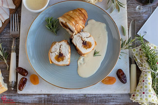 Pechuga de pollo rellena de salsa de mostaza - Sabor Granada