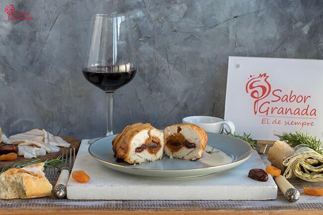 Receta para hacer Pechuga de pollo rellena de salsa de mostaza - Sabor Granada