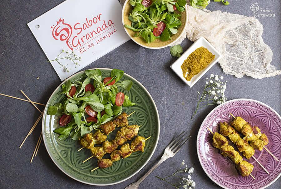 Receta para hacer Pinchitos de pollo - Sabor Granada