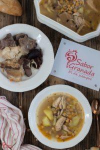 Presentación de la receta de Puchero Andaluz - Sabor Granada