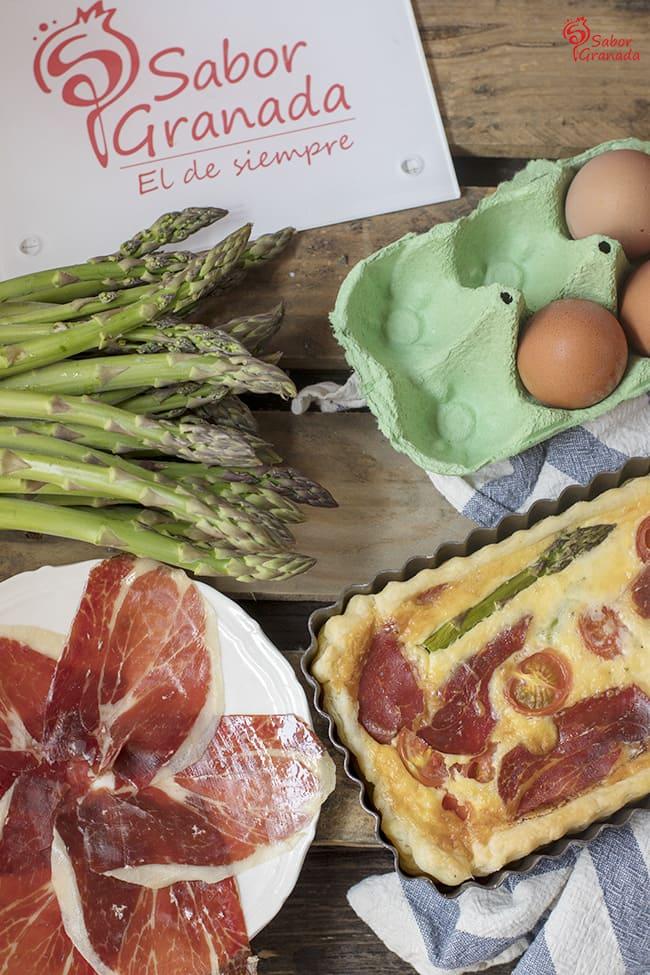 Cómo hacer quiche de jamón ibérico de bellota - Sabor Granada