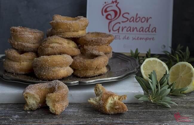 Rosquillas fritas - Sabor Granada