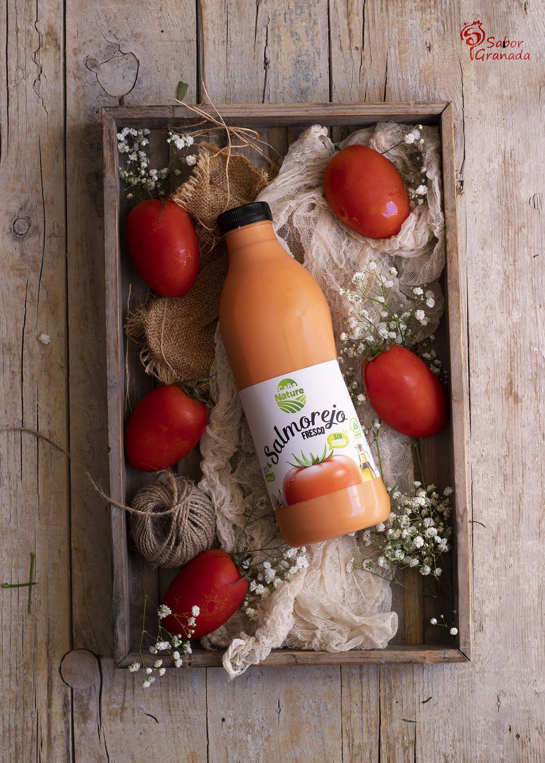 Salmorejo Caña Nature para la elaboración de flan de salmorejo - Sabor Granada