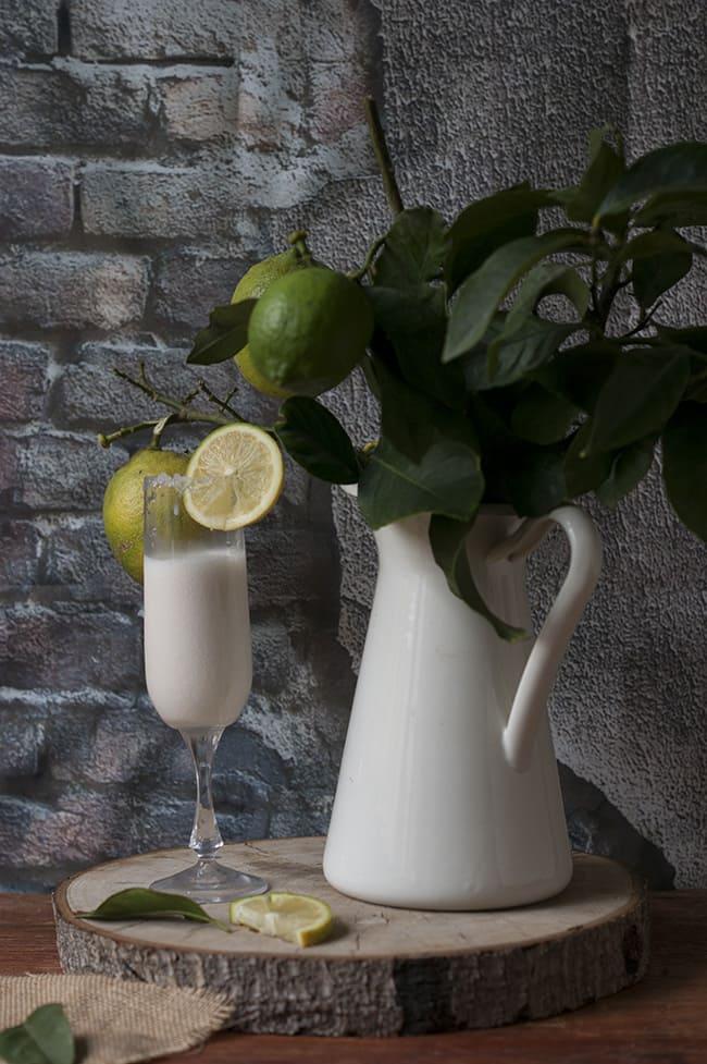 Sorbete de limón al champín - Sabor Granada