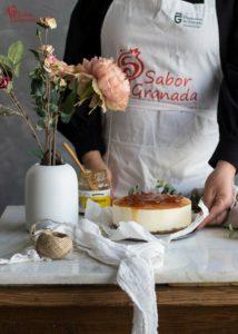 Tarta de queso sin horno - Sabor Granada