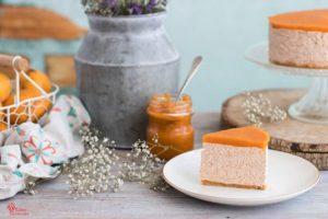 Porción de tarta de queso y níspero - Sabor Granada