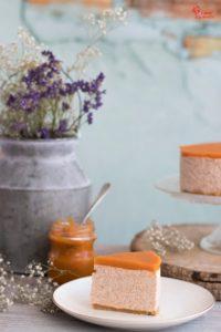 Tarta de queso y níspero - Sabor Granada
