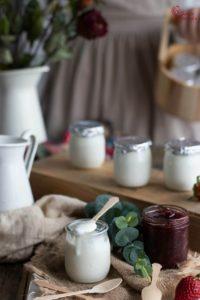 Elaboración de yogur casero - Sabor Granada