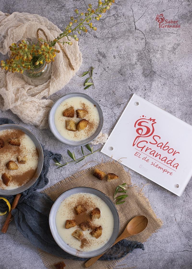 Presentación de las gachas dulces de Todos los Santos - Sabor Granada