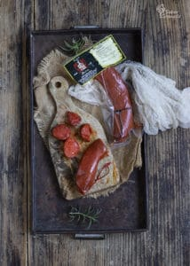 Sobrasada Jamones Muñoz para hacer pan al horno con crema de queso y sobrasada - Sabor Granada