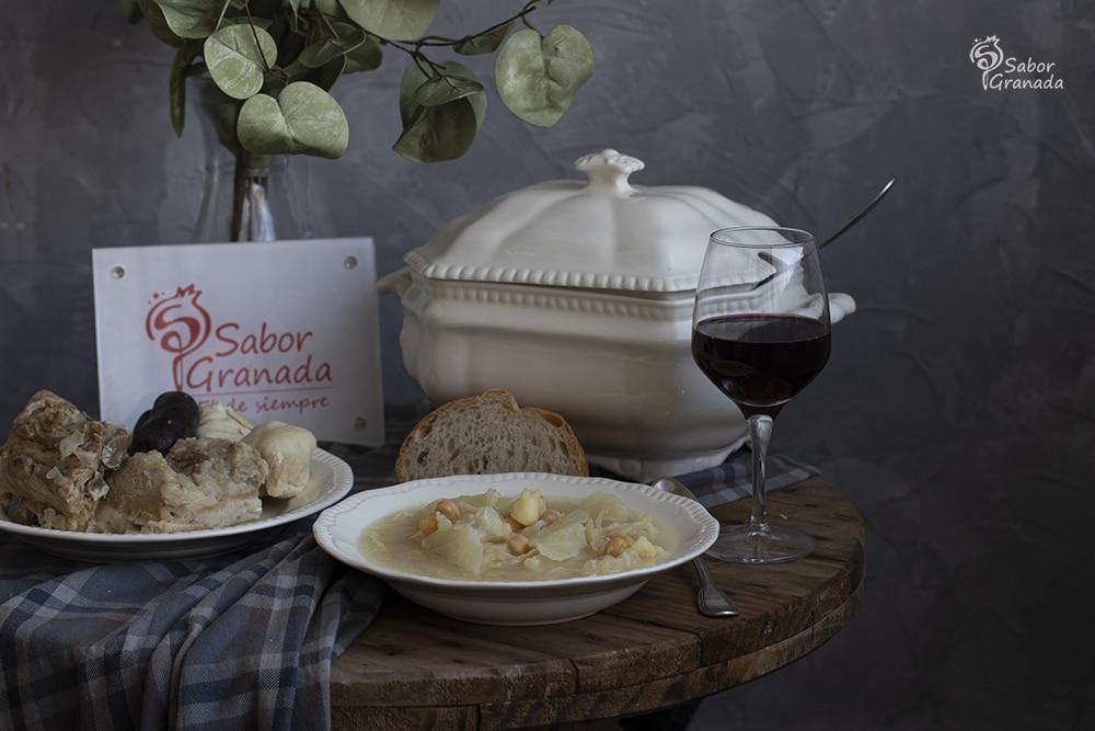 Receta para un puchero de coles - Sabor Granada