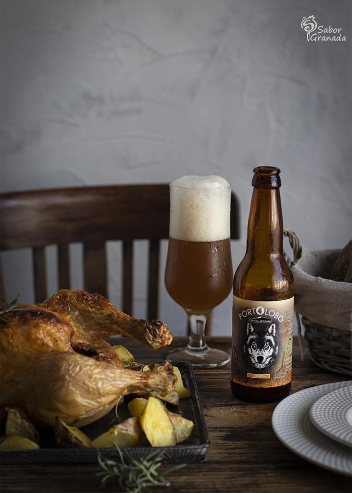Cerveza portolobo para hacer pollo a la cerveza - Sabor Granada