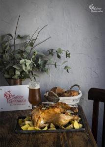 Pollo a la Cerveza emplatado - Sabor Granada