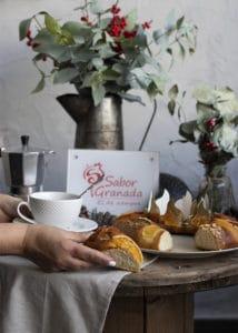 Porción de roscón de Reyes - Sabor Granada