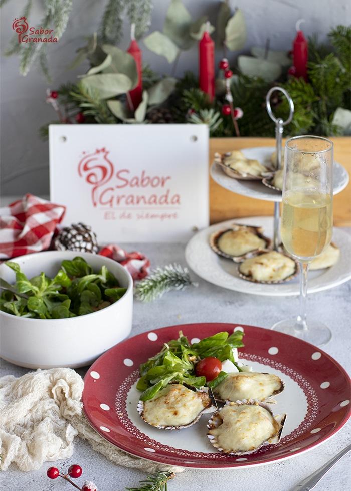 Zamburiñas gratinadas - Sabor Granada