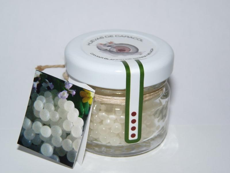 Bote de huevas de caracol de Caviar Blanco de Sierra Nevada - Sabor Granada