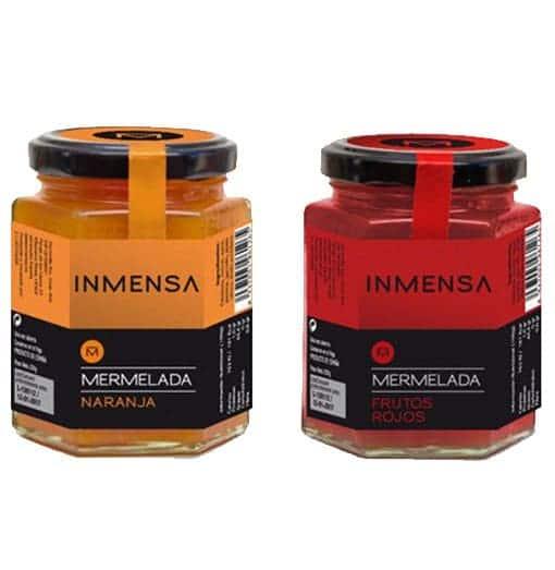 Mermeladas de naranja y de frutos rojos de Inmensa - Sabor Granada