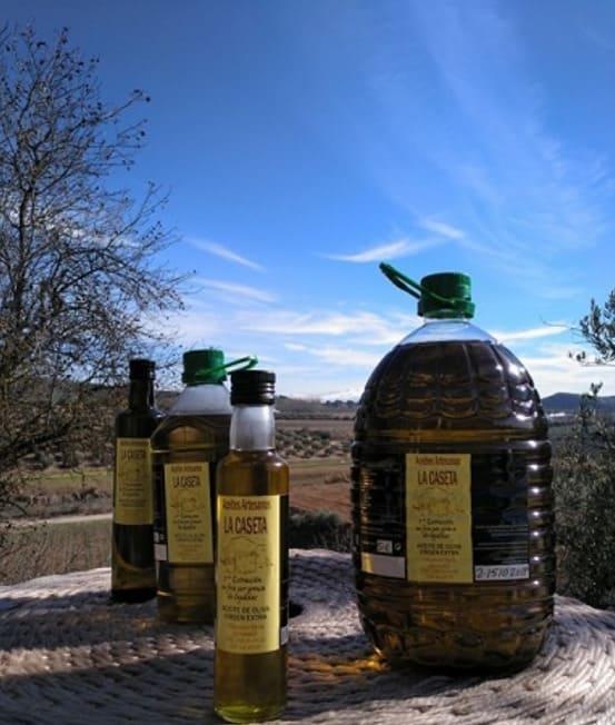 Botellas de varias medidas de AOVE de Aceites Artesanos La Caseta - Sabor Granada