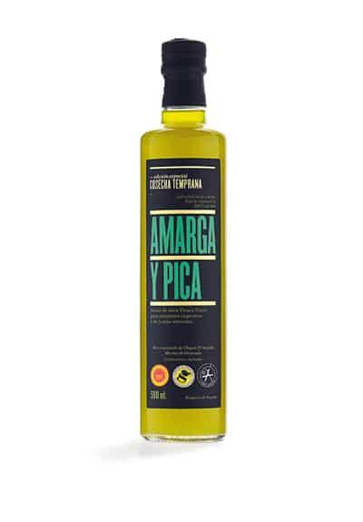 Botella de AOVE Amarga y Pica de cosecha temprana Conde de Benalúa de 500 mililitros - Sabor Granada