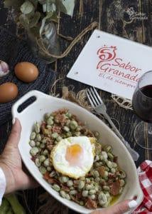 Habas con jamón listas para comer - Sabor Granada