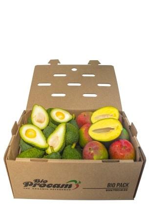 Caja de aguacates y mangos de Bio Procam - Sabor Granada