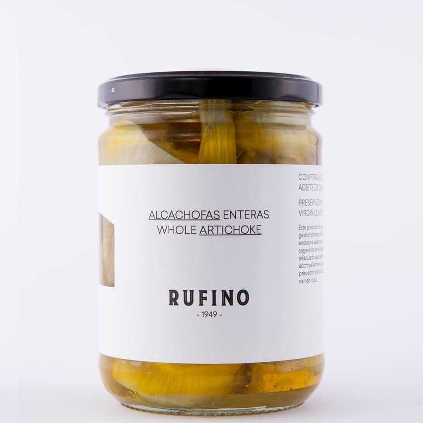 Bote de alcachofas enteras de Rufino - Sabor Granada