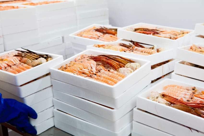 Productos de Mariscos Apolo en cajas - Sabor Granada