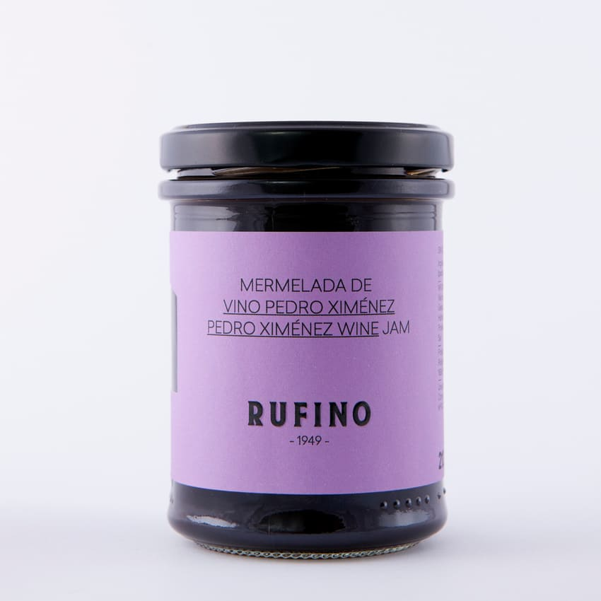 Bote de mermelada de vino Pedro Ximénez de Rufino - Sabor Granada