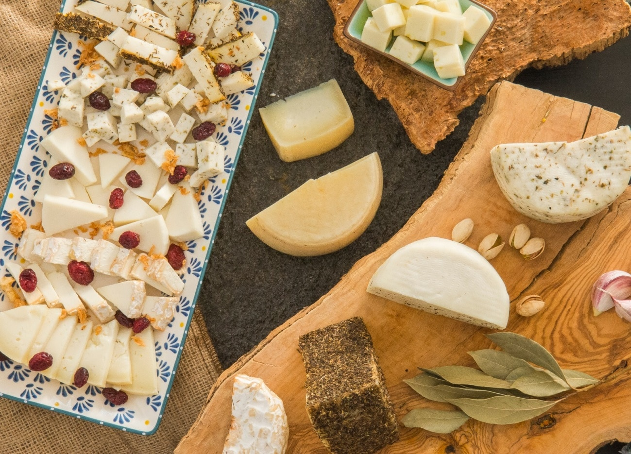 Variedad de quesos de Quesería Los Teatinos - Sabor Granada