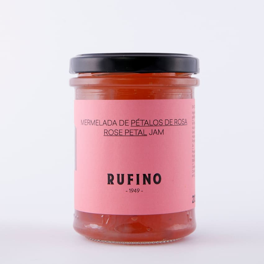 Bote de mermelada de pétalos de rosa de Rufino - Sabor Granada