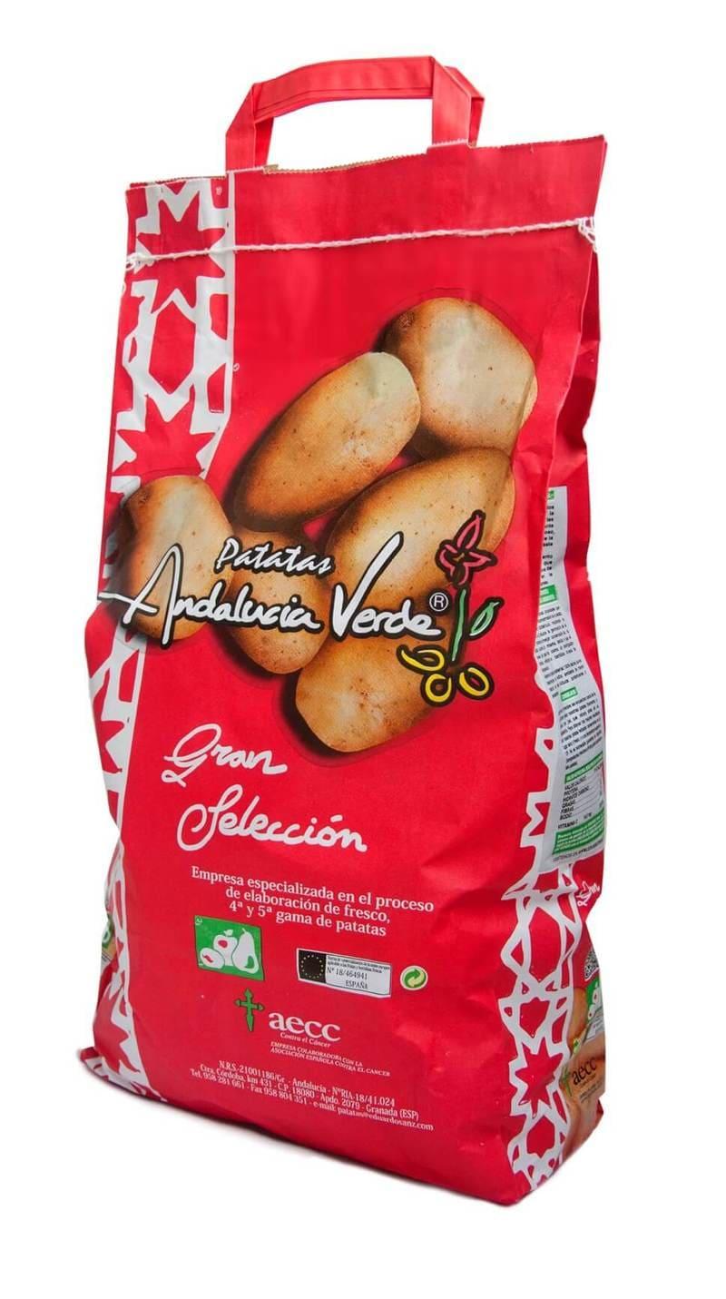 Paquete rojo de Patatas Andalucía Verde Gran Selección de Eduardo Sanz - Sabor Granada