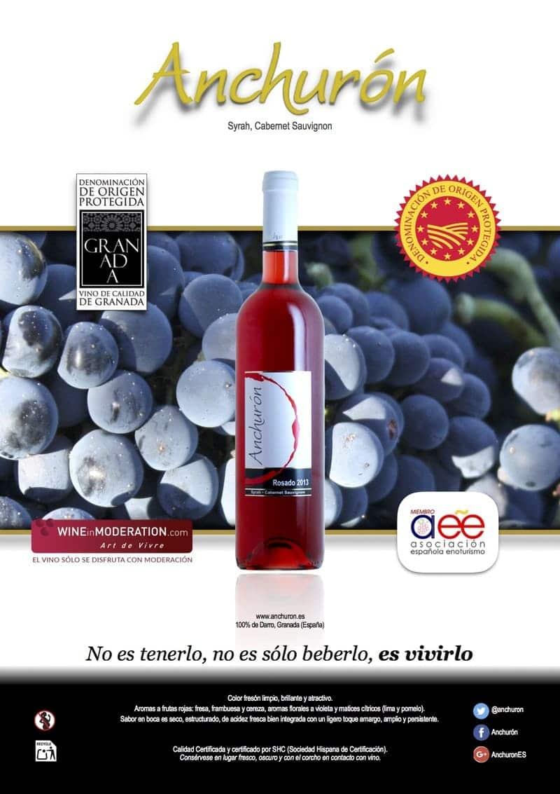 Banner de vino rosado de Bodega Anchurón - Sabor Granada