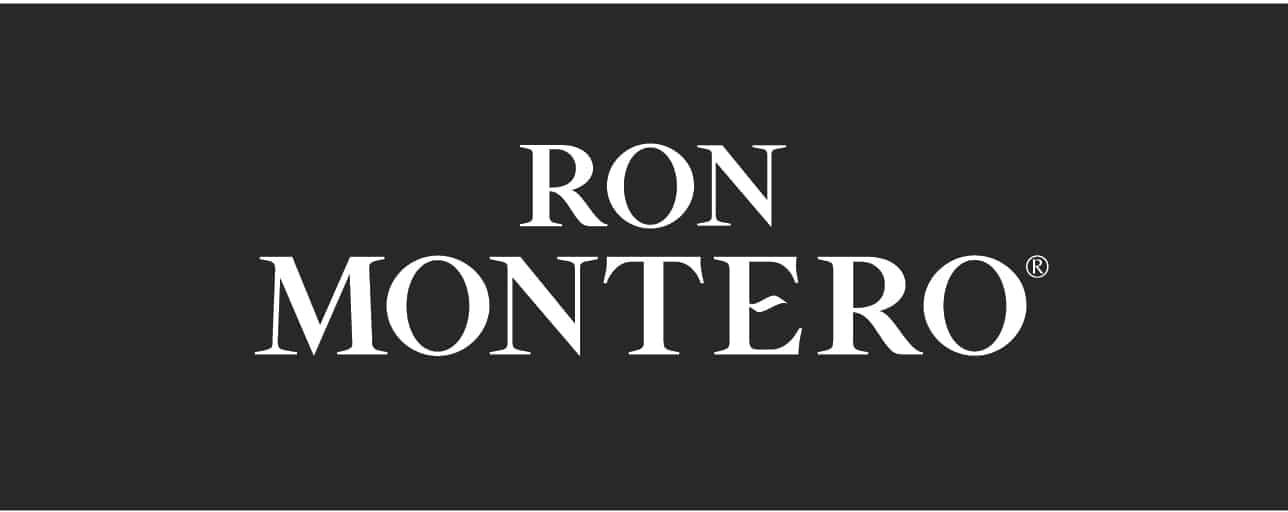 Logo Ron Montero con fondo negro - Sabor Granada
