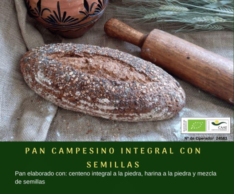 Pan campesino integral con semillas de Panadería Gerardo - Sabor Granada
