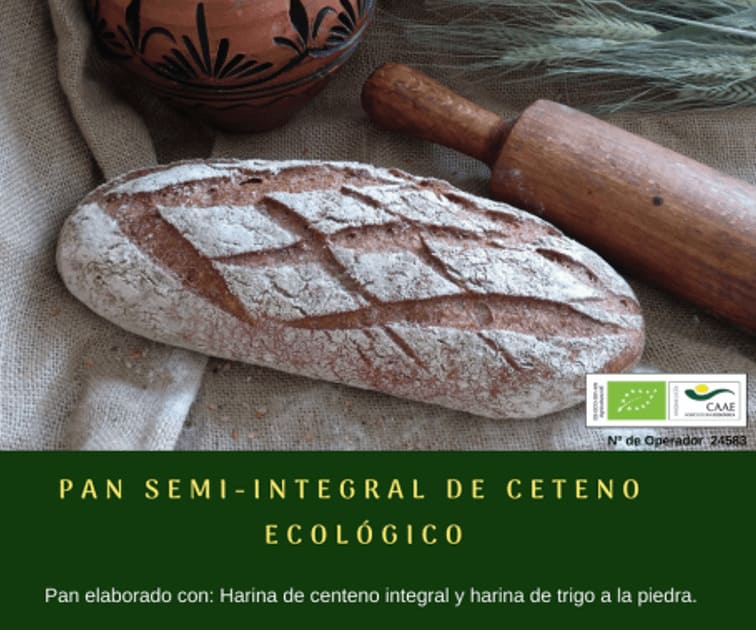 Pan semi integral de centeno ecológico de Panadería Gerardo - Sabor Granada