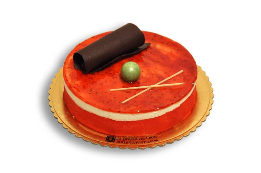 Tarta de queso de frambuesa de la panadería La Gracia de Dios - Sabor Granada
